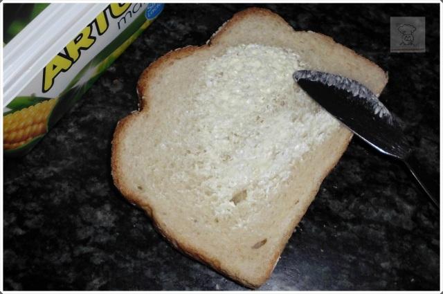 pan margarina antes de sarten